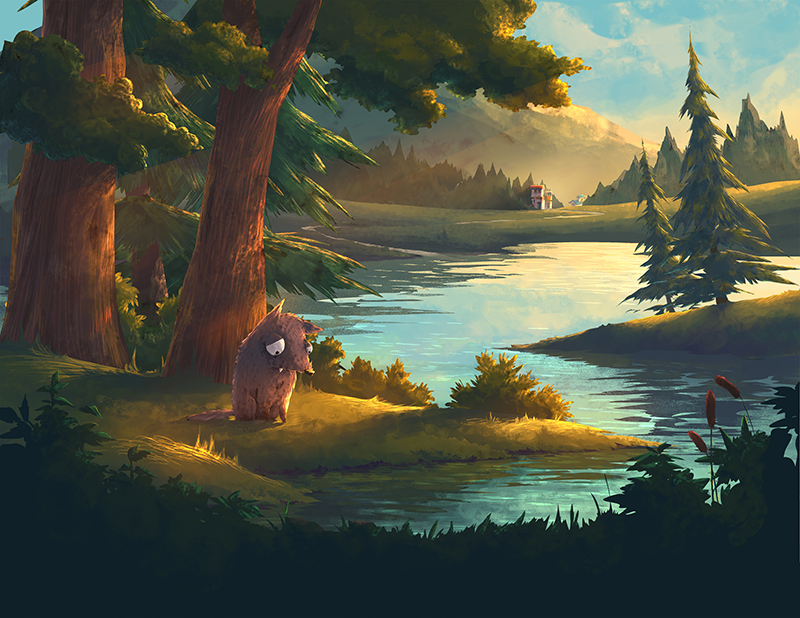 Digital 2013  Illustration for an interactive e-book project  Shaggy Dog & Woolly Wolf