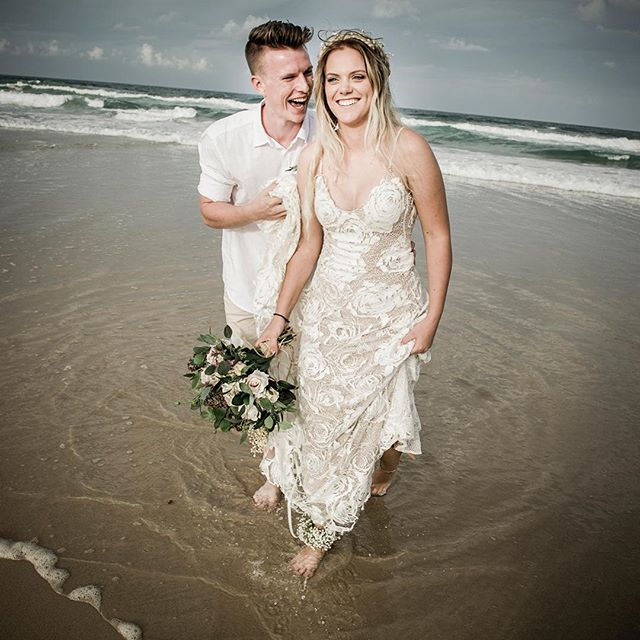 Luv relaxed, no shoes weddings #currumbin #weddingphotography #relaxedweddings #weddingphotographerbrisbane #weddings #beachwedding