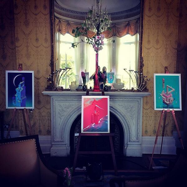 Monument Valley prints on display at the Úll Conference