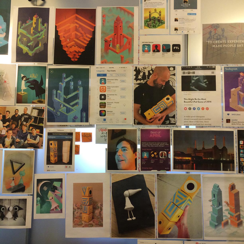 Our wall of hype / fanart / Adam Saltsman