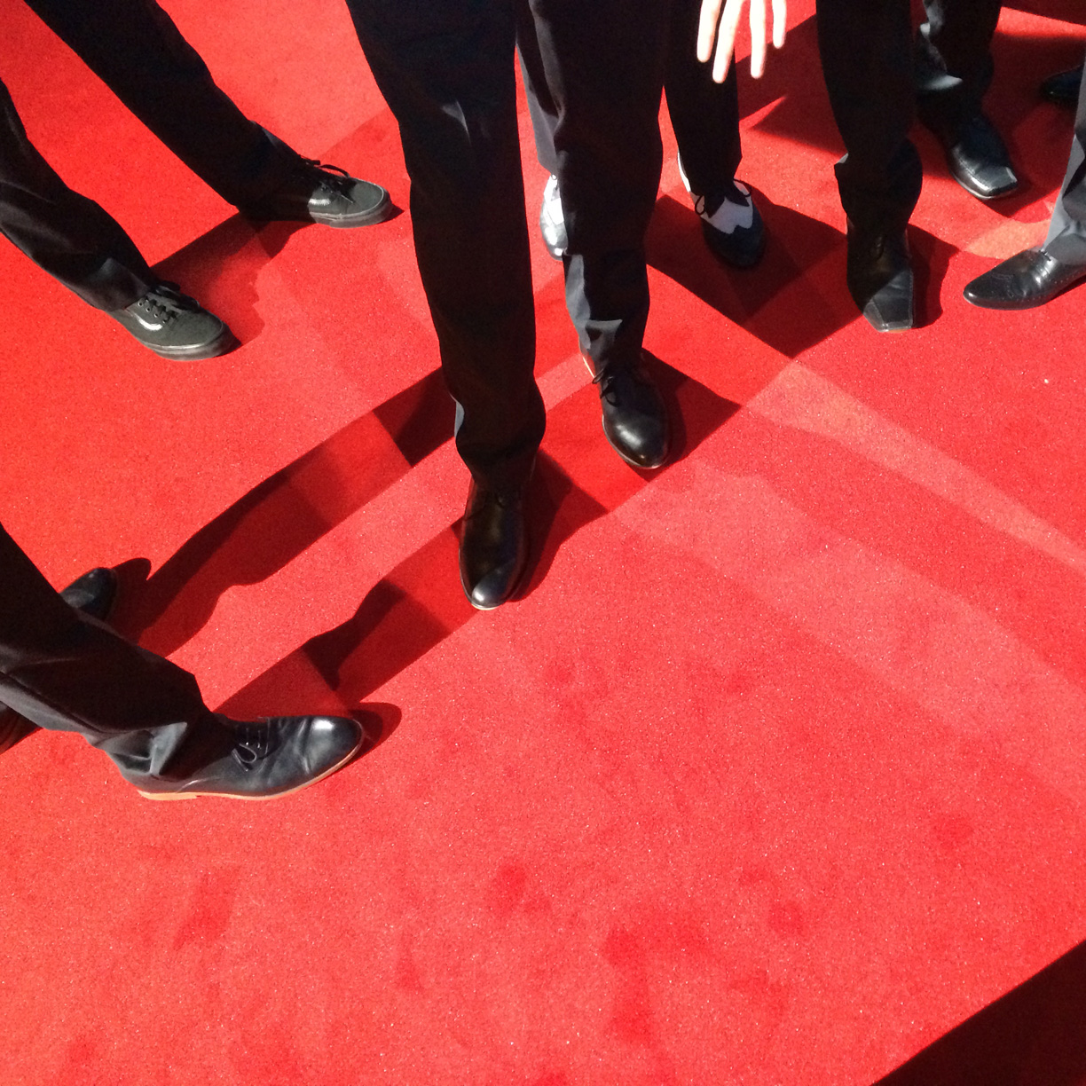 The red carpets at the BAFTAs