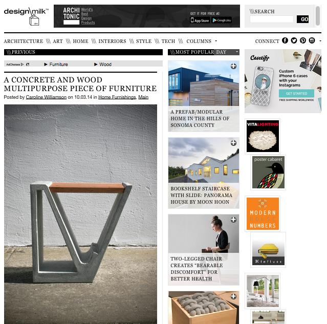 Magazine Stable feature on Design Milk - October 2014