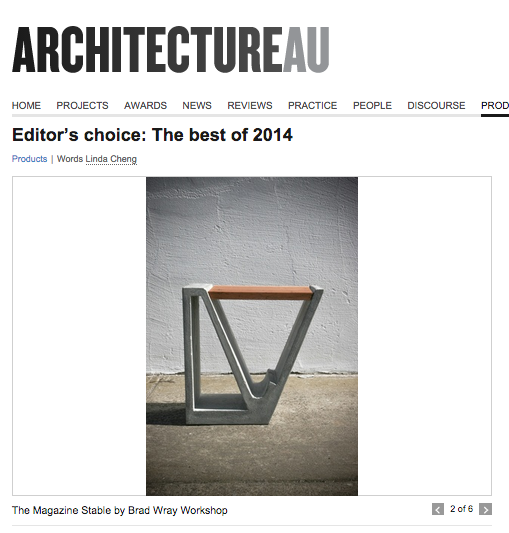 Magazine Stable Voted No.2 -Top 6 Products of 2014 - Editor`s Choice onArchitectureAU