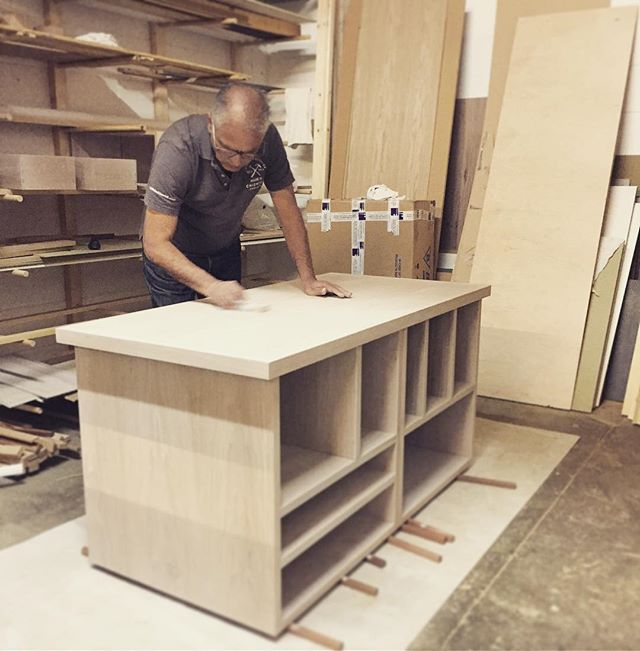 Calling in the master (aka dad!) to assist in getting this unit done in time for this weekend's #decorex