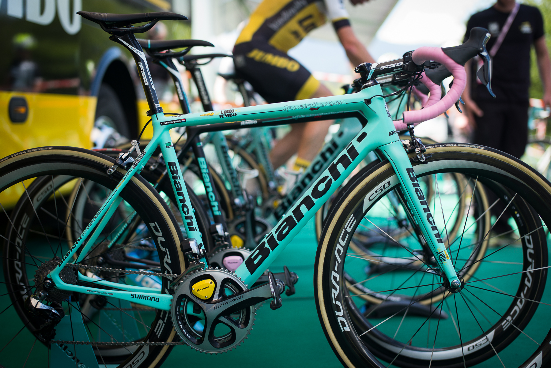 Bianchi in pink.