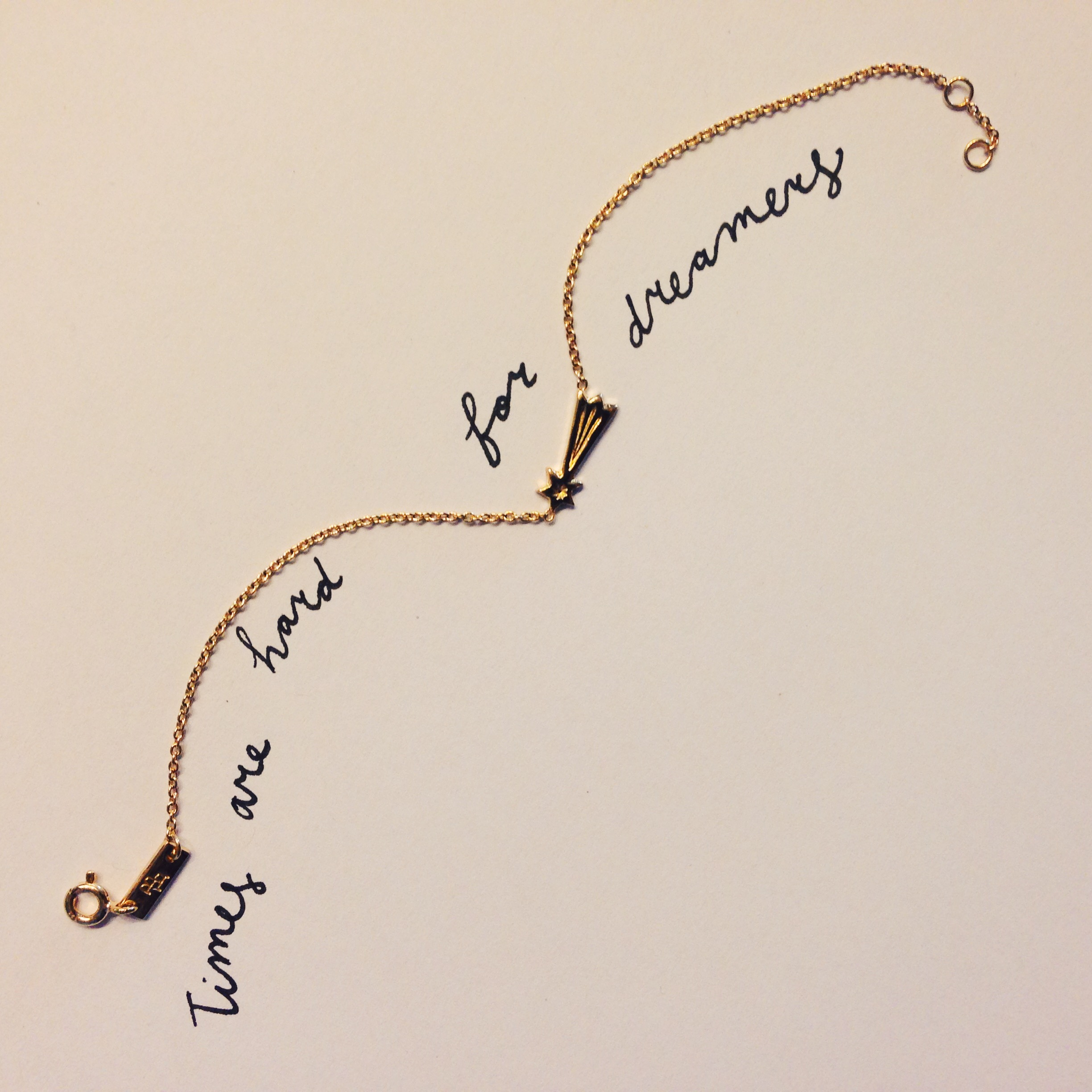 Shooting star bracelet gold-plated