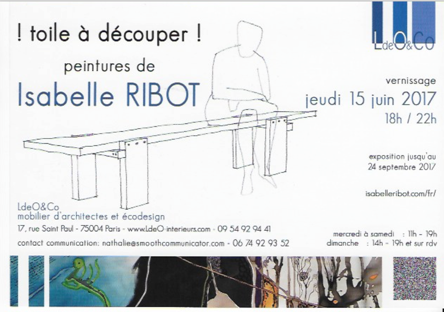 Organisation de l'exposition d'une artiste française basée au Brésil dans une galerie au village Saint-Paul (Marais) Paris.