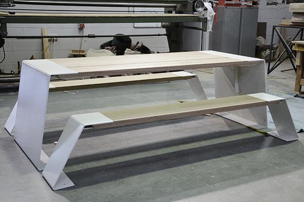 Workshop image of prototype