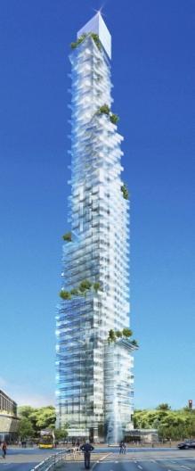 Προβολή του ουρανοξύστη των 209 μέτρων