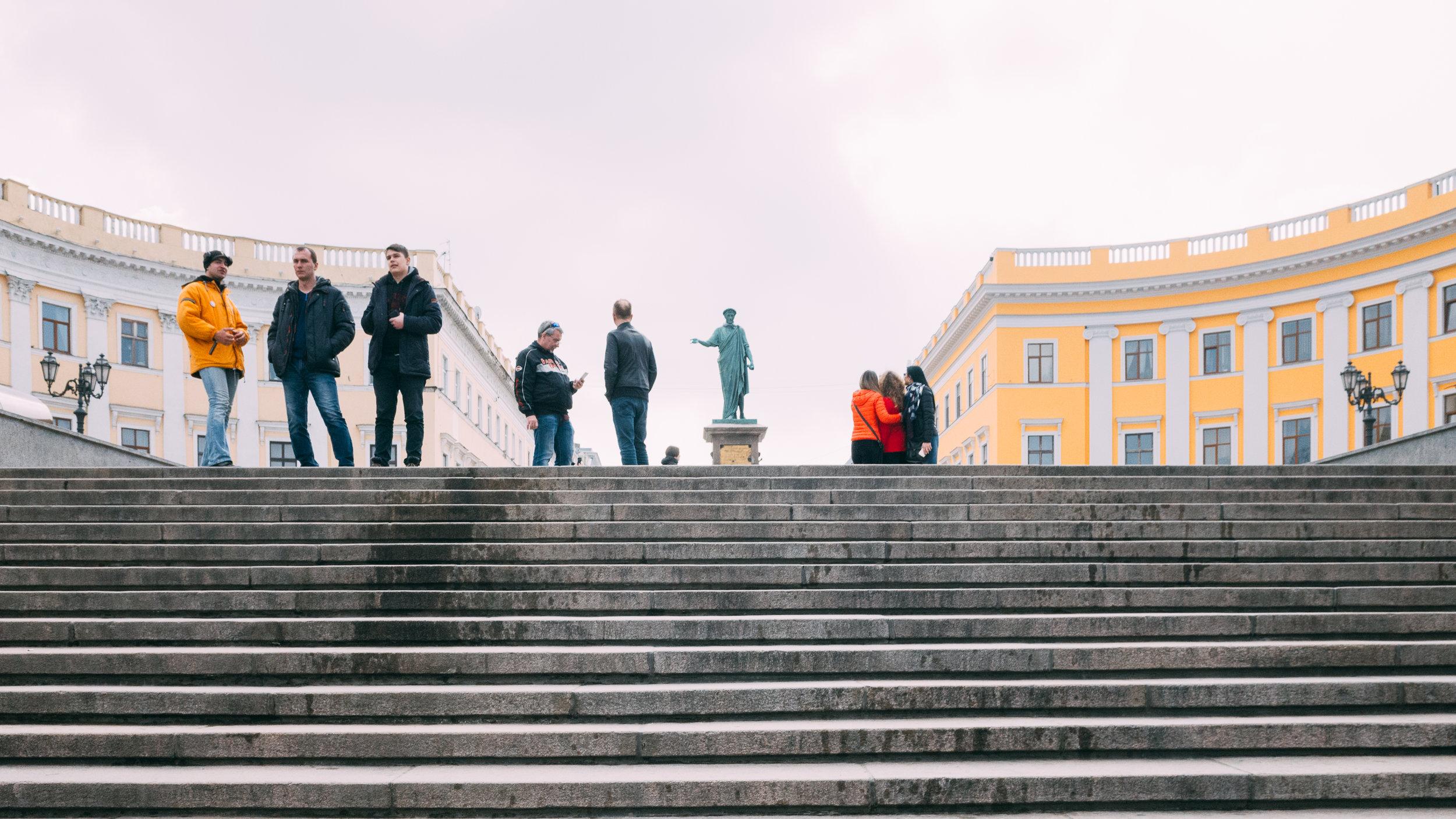 Σκάλες Ποτέμκιν, το άγαλμα του Ρισελιέ