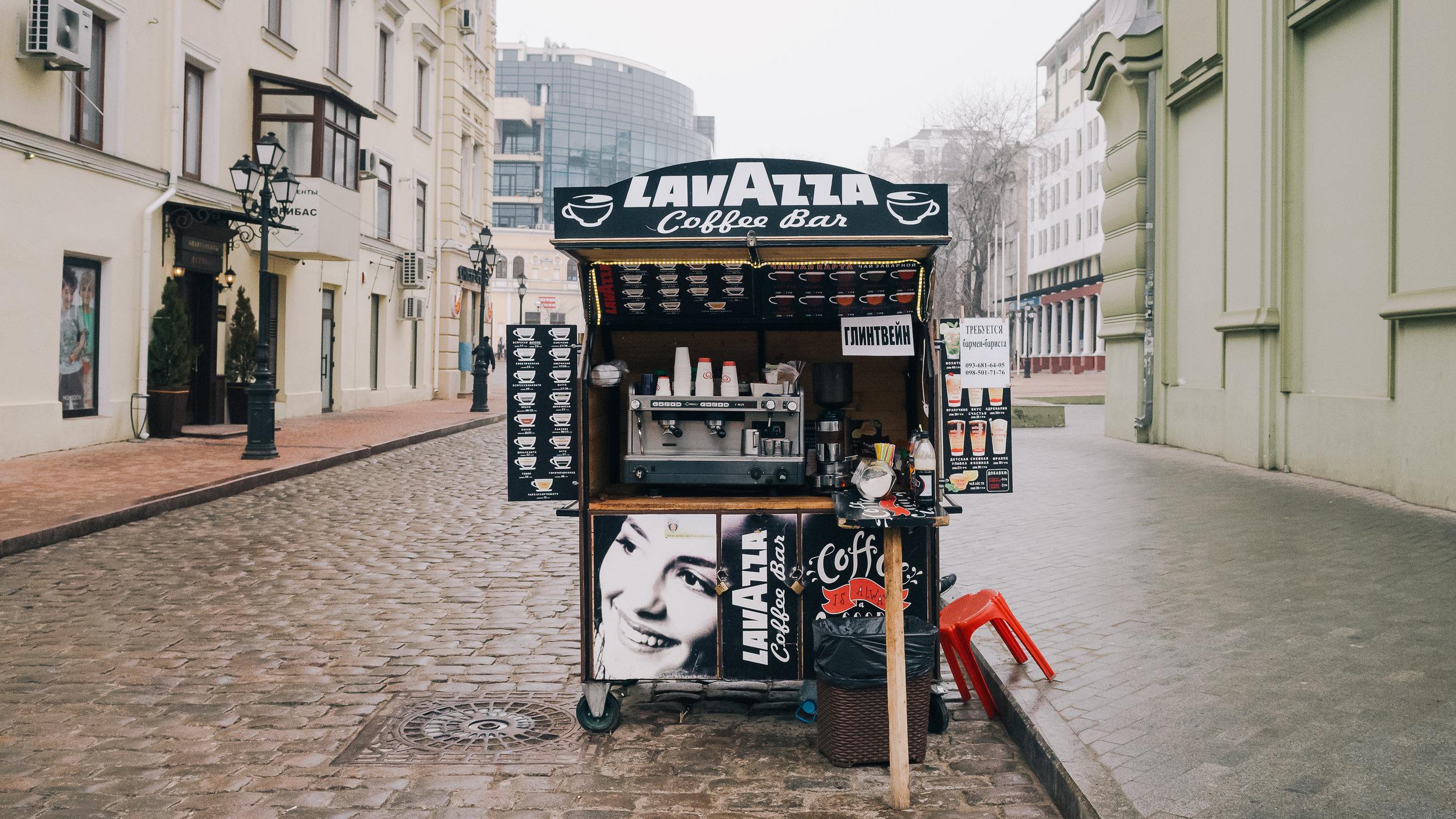 Κιόσκι με καφέ στην Οδησσό