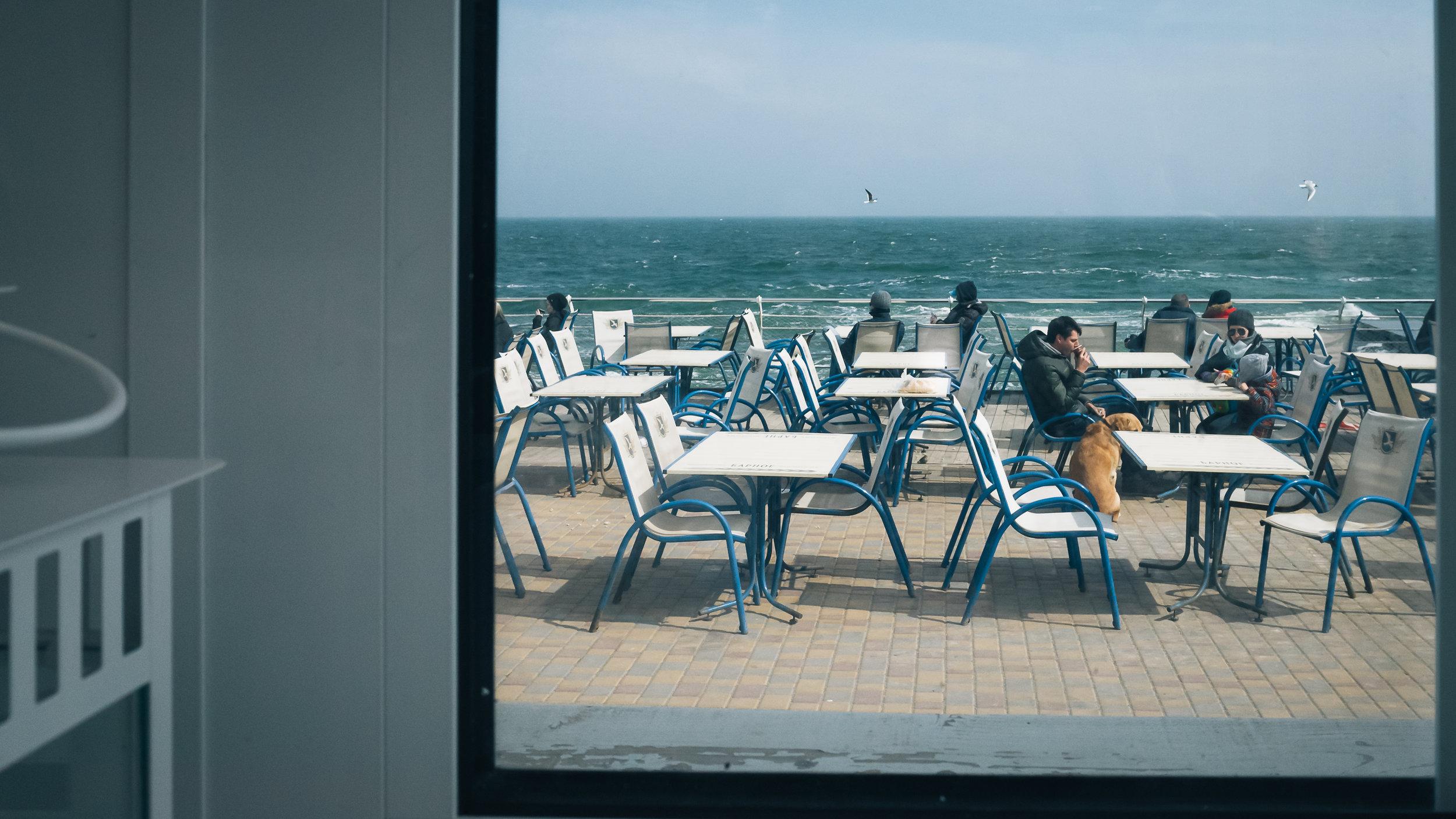 Η θέα απ' το εστιατόριο