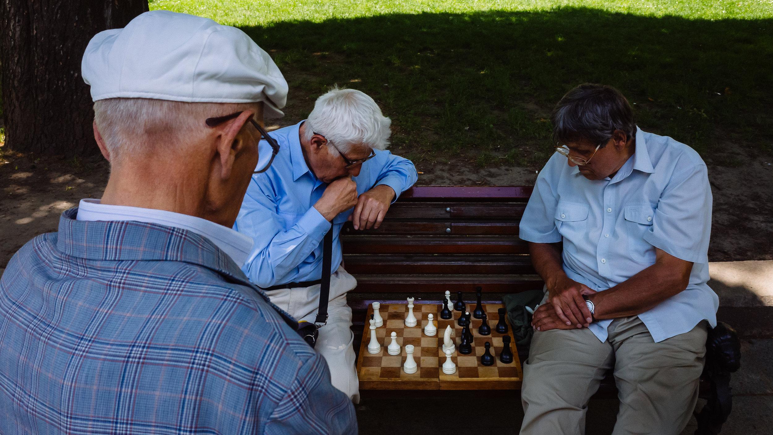 Οι σκακιστές στο πάρκο