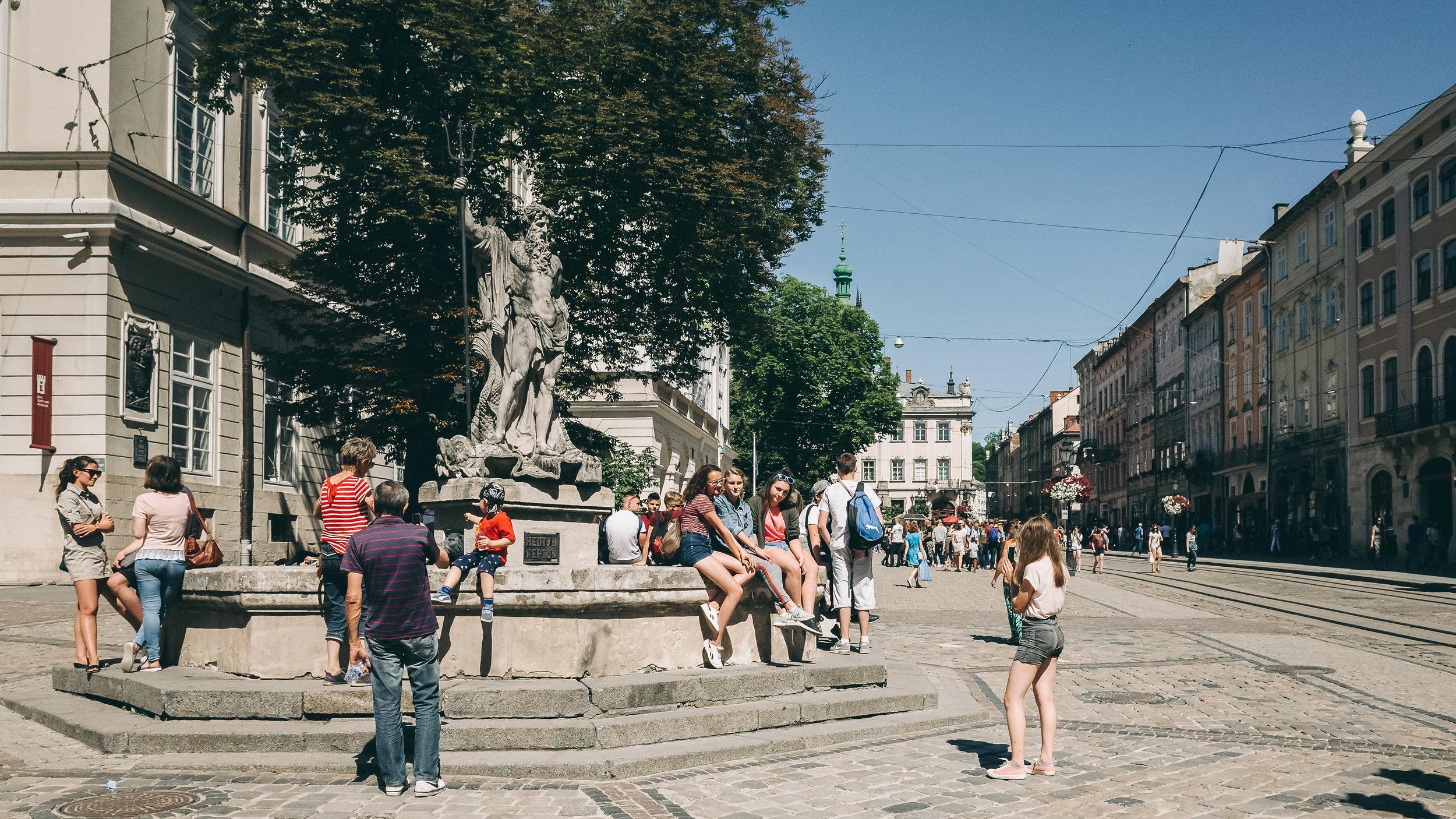 Το άγαλμα του Ποσειδώνα στη Λβιβ