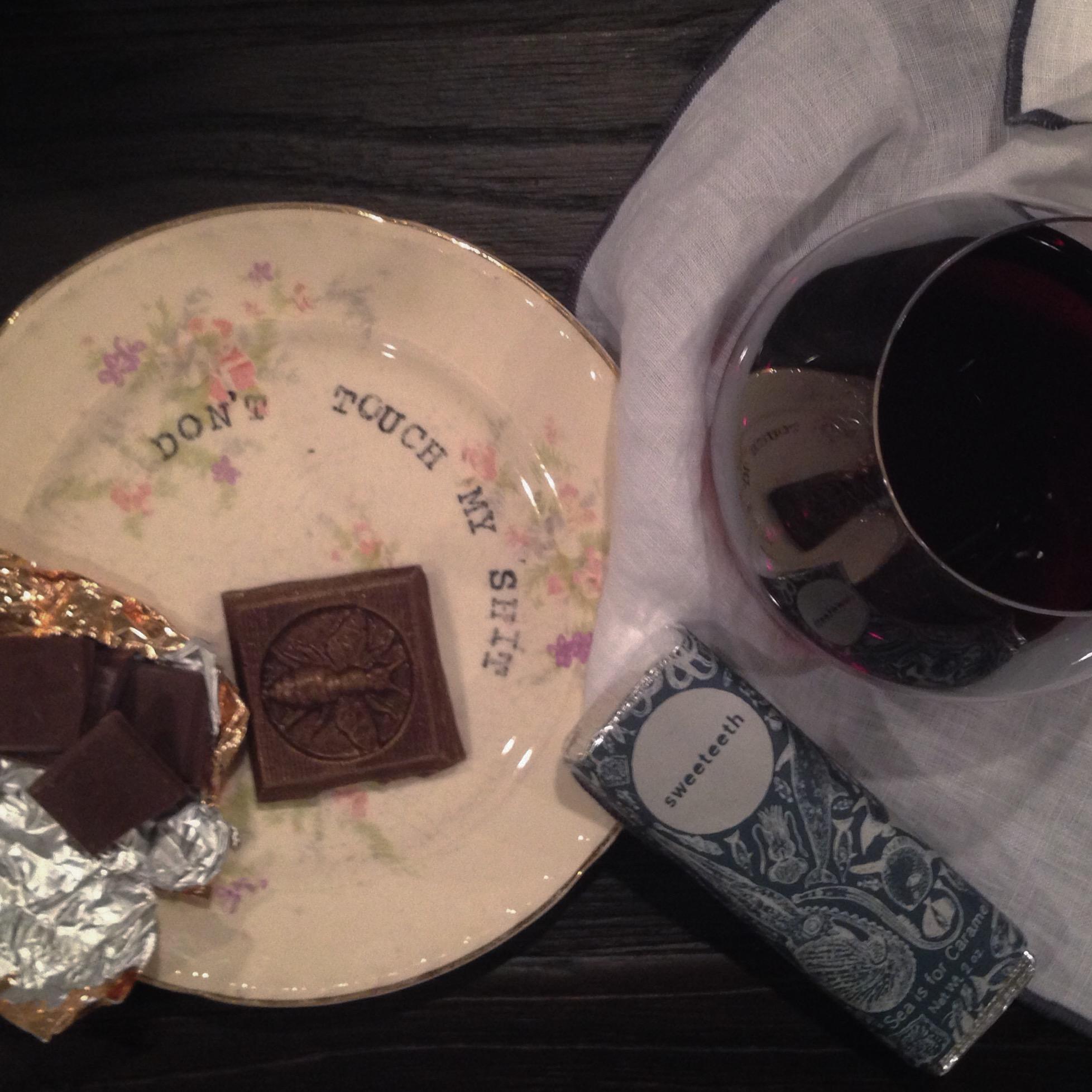 chocolate + wine