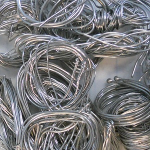 Image of platinum thermocouple wire scrap, a very profitable type of scrap Specialty Metals Smelters and Refiners can recycle for your company.