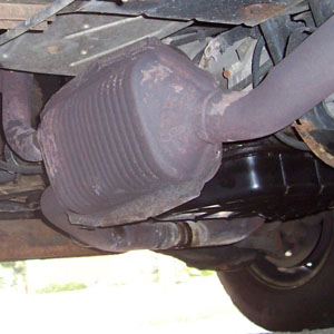 Photo of catalytic converter containing platinum, palladium and rhodium which can be recycled and refined for best prices at Specialty Metals.