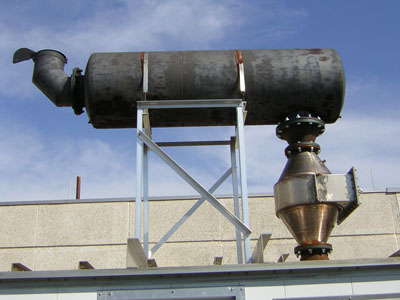 Catalytic Converters like this one for a hospital diesel generator can contain large quantities of precious metals like platinum, palladium and rhodium. Image courtesy of Governor Control Systems, Inc. All Rights Reserved.