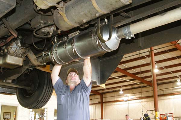 Shown: A school bus catalytic converter, courtesty of Times-Herald.com, 5/12/09 http://www.times-herald.com/local/Therma-Cat-test-could-clean-the-air-735458