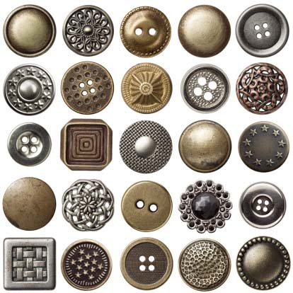 Shown: an assortment of silver and gold buttons items that can be recycled profitably by Specialty Metals.