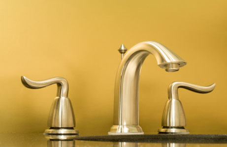 Image of gold-plated faucet, one form of plumbing fixture which can be recycled and refined by Specialty Metals.