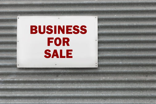 Shown: business for sale sign, which could mean there are valuable precious metals waiting to be recycled inside. If you're a commercial real estate broker, contact Specialty Metals today.