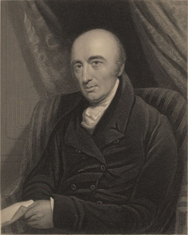Portrait of William Hyde Wollaston, who first extracted Rhodium from ores containing platinum and palladium in 1803.