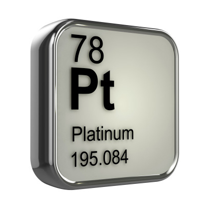 Shown: the periodic table symbol for Platinum, element 78, which is very valuable and can be recycled and refined by Specialty Metals.