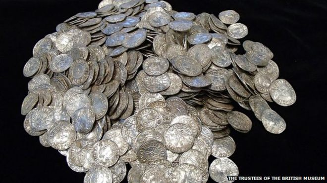 Anglo Saxon coins. Credit: Trustees of the British Museum.