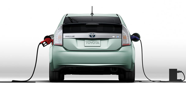 Not all Hybrids have catalytic converters, but if it burns fossil fuels like the Toyota Prius Hybrid shown in this photo, it has a cat. Image Credit: Toyota.