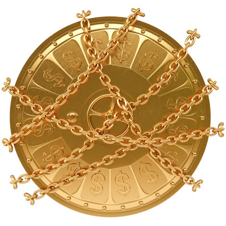 Image of gold vault door, symbolizing how you can lock in future precious metal prices with a Specialty Metals Precious Metals Pool Account.