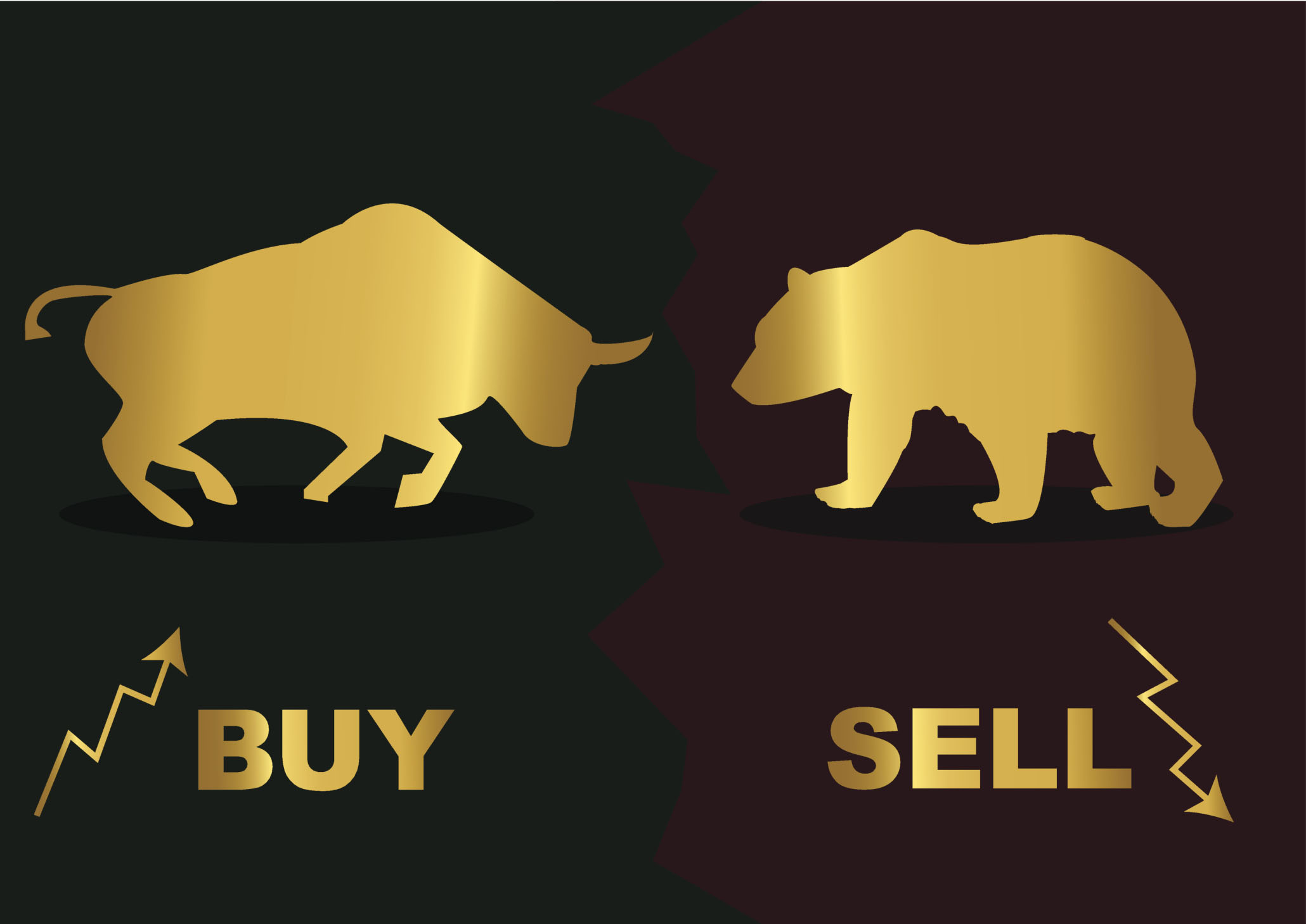 Illustration of bull and bear for blog post about gold prices and Specialty Metals gold pool accounts. Credit: dalebor/iStock.