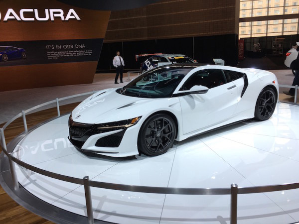The 2017 Acura NSX at the NY International Auto Show.Credit: Scotty Reiss, courtesy of SheBuysCars(dot)com.