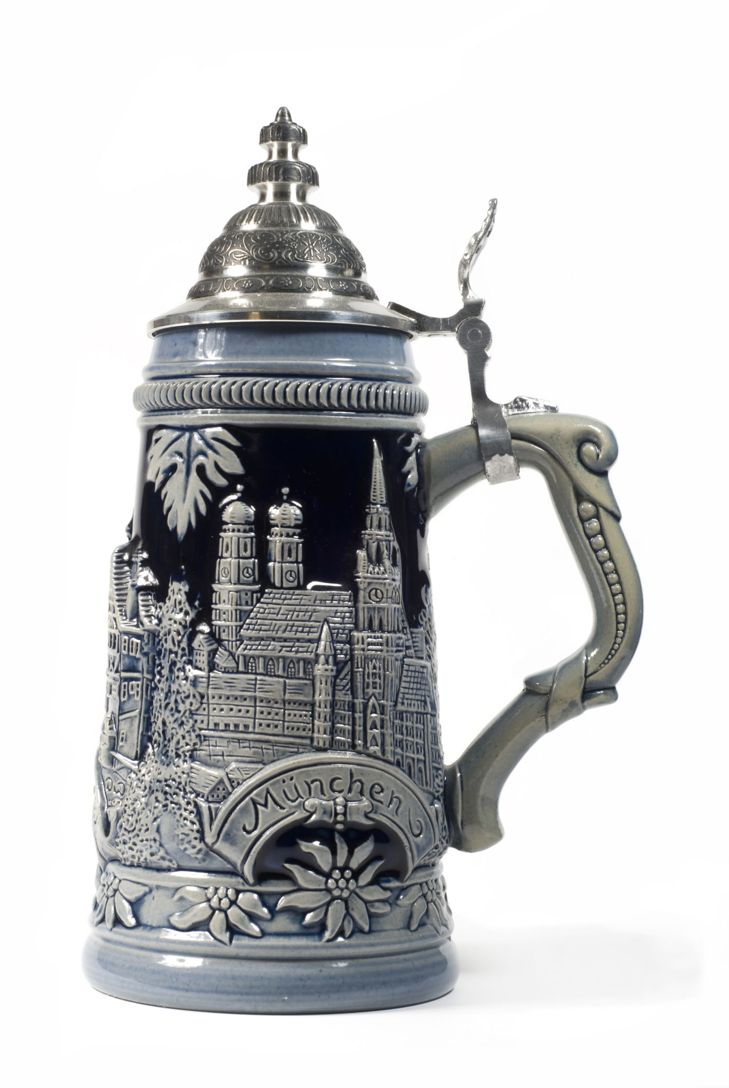 Photo of silver plated beer stein. Credit: Jupiter Images/Stockbyte.