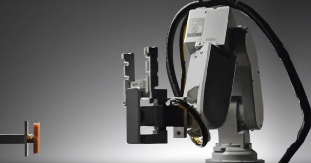 This is Liam, Apple's iPhone recycling robot, which can reclaim gold, silver, platinum, copper, lithium and more. Credit: Apple.
