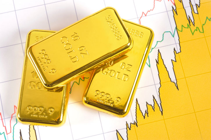 Image of gold price chart for Specialty Metals blog post. Credit: filmfoto/iStock.