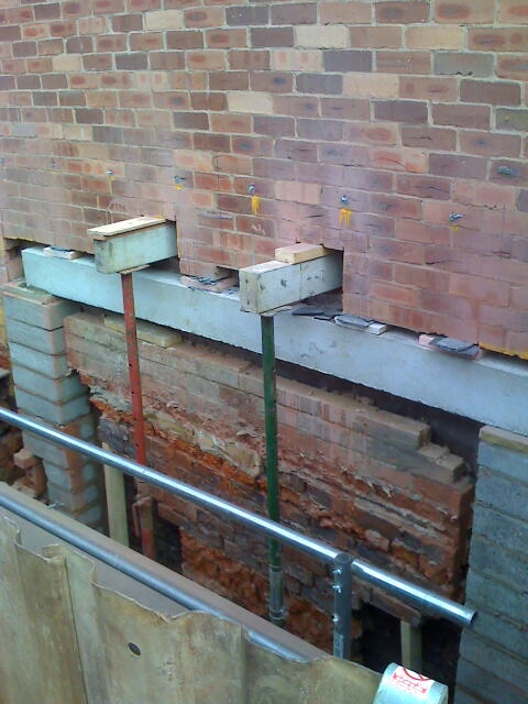 To provide the necessary disabled access the lift shaft had to be extended below the basement level.