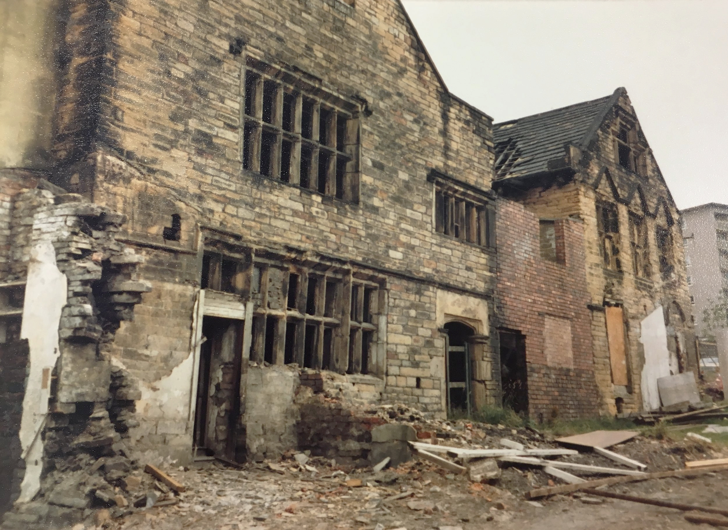 The front of the Paper Hall before the external structural works began.