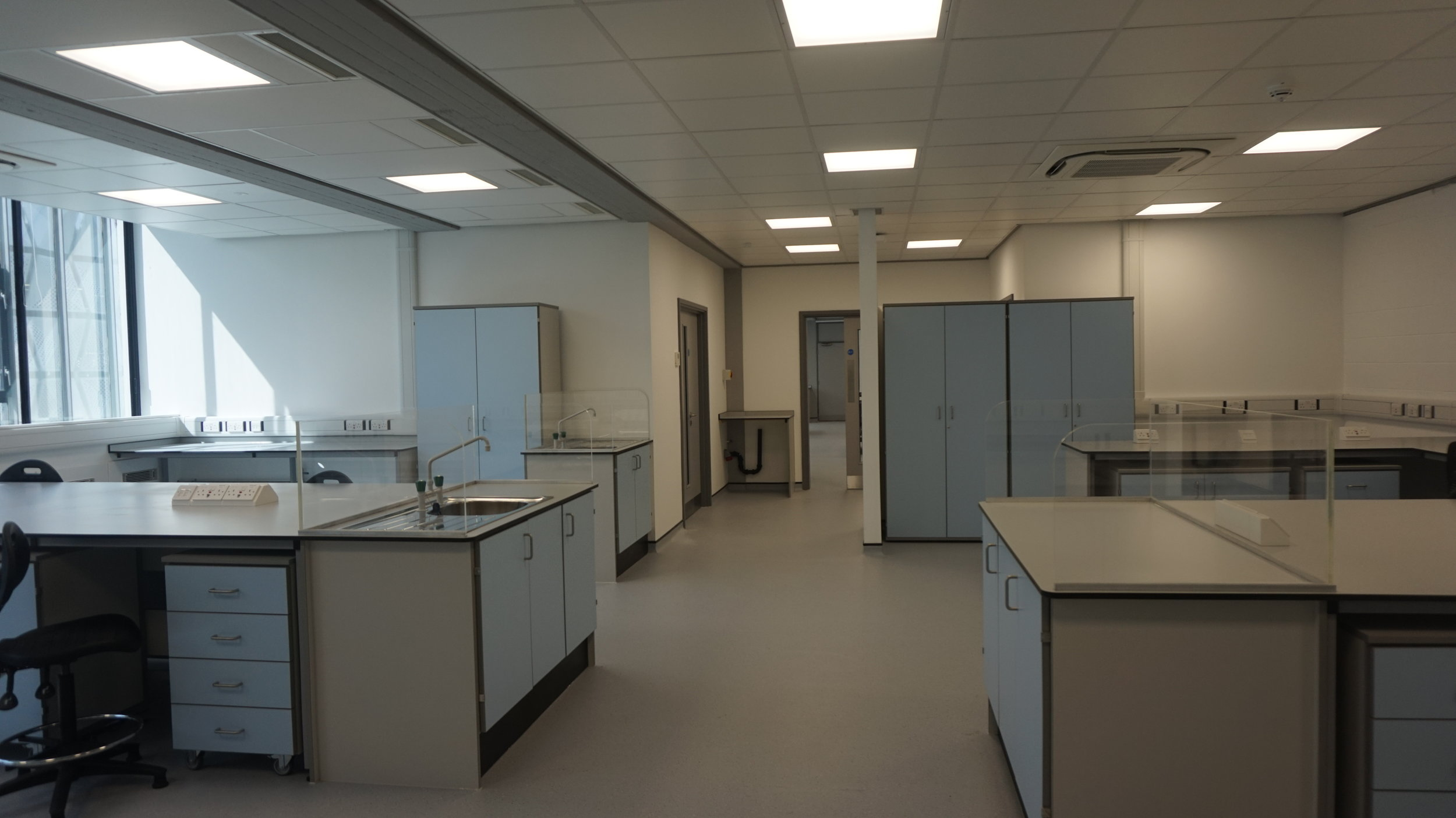 Laboratory 2 and the Bio Hazard Work space