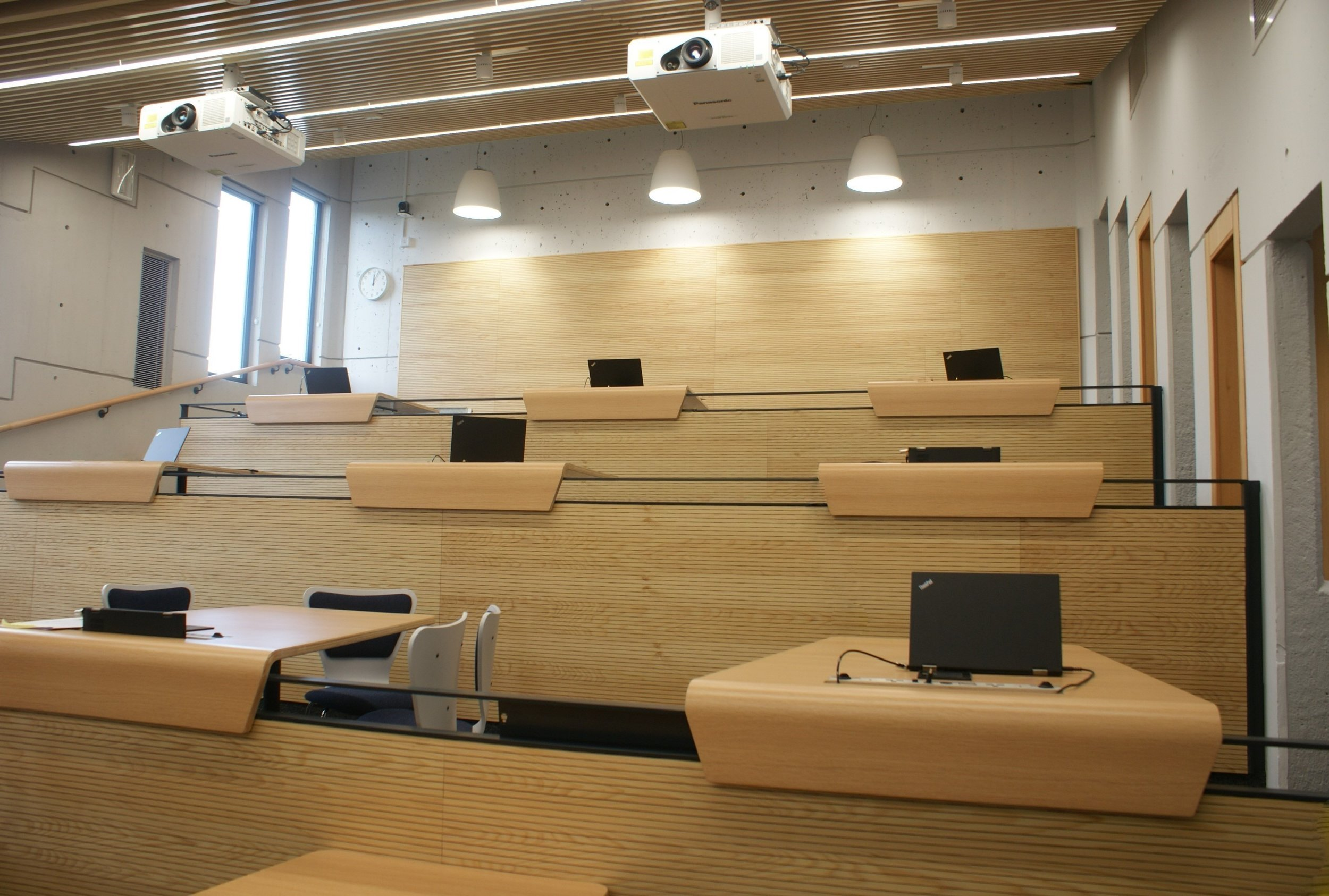 The completed Roger Stevens Lecture Theatre 8.
