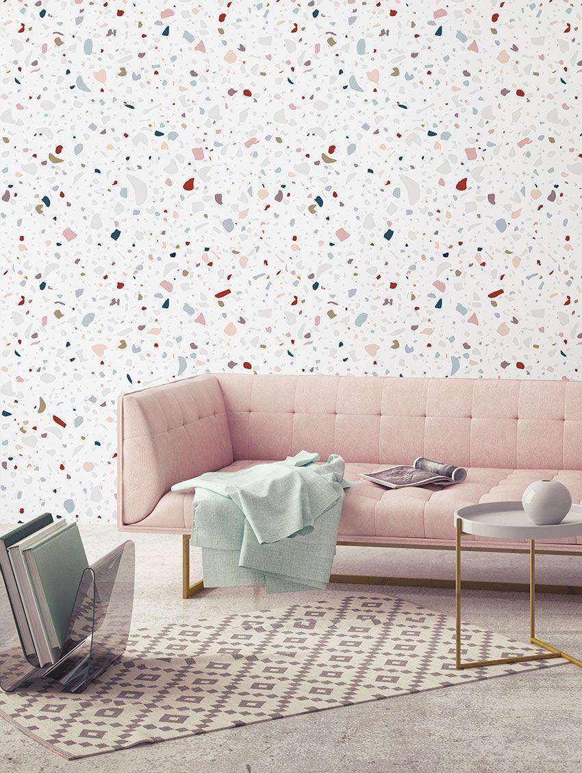 Paper-Mint Terrazzo Wallpaper