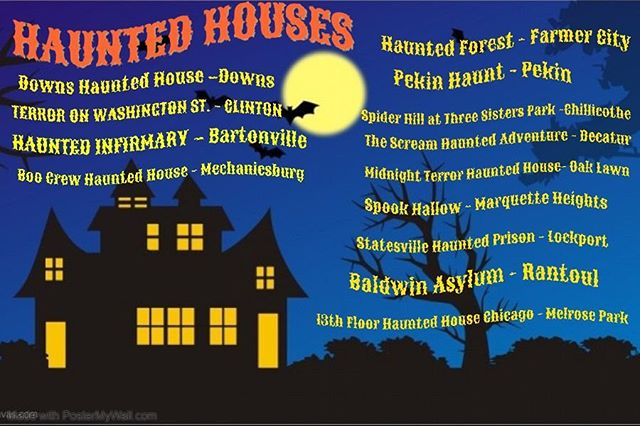 Who else loves visiting Haunted Houses?! Check out a list of some of our favorites below.🎃☠️👻💀🕸🕷🦇