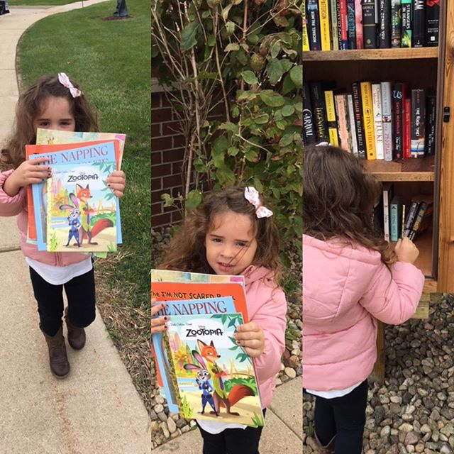 Big thanks to this adorable little resident for donating to our Little after Library yesterday!! #littlefreelibrary #donating #allthebooks #lovewhereyoulive