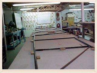 Fuselage layout begins in the World Cruiser workshop.