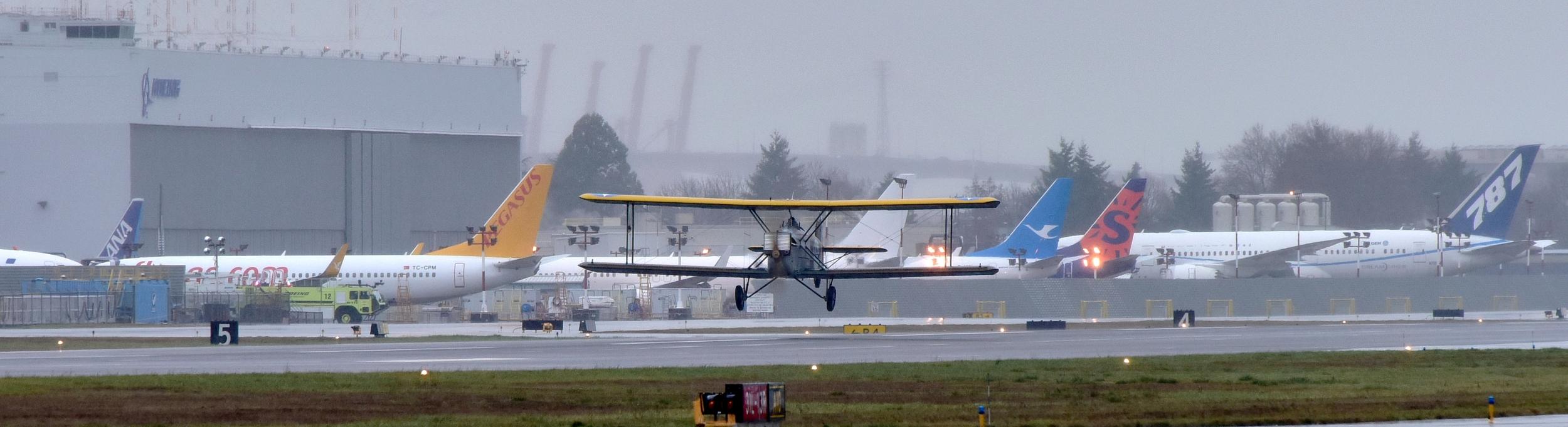 Douglas World Cruiser N511WC, Official First Flight, Boeing Field, Seattle, Washington 9.jpg
