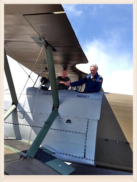 Test pilot Carter Teeters & Bob.