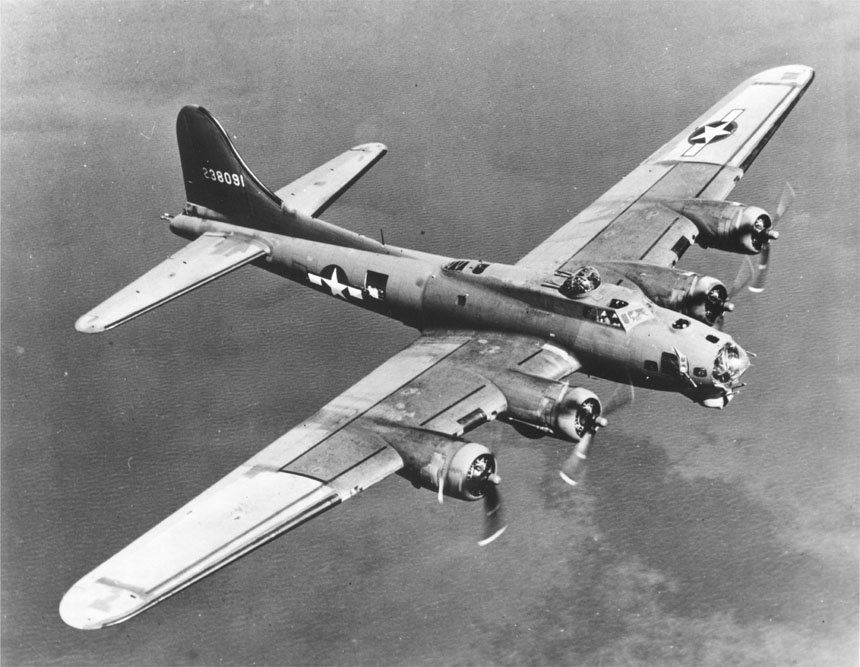 The Boeing B-17 Flying Fortress was a mainstay of American air power during WWII.  (National Archives)