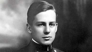 A young Donald Douglas as a cadet in the Naval Academy.