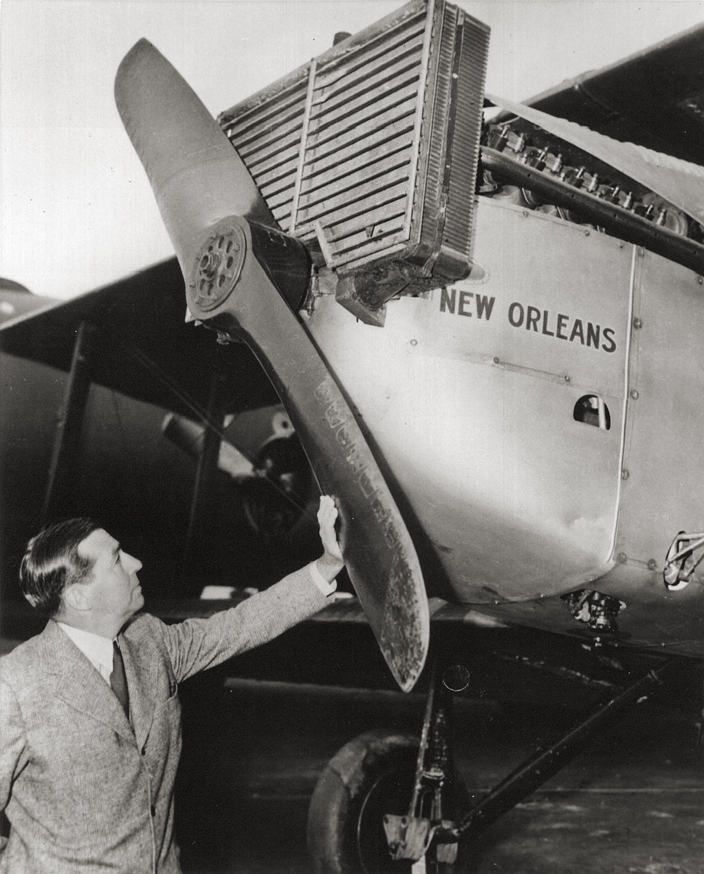 Donald with the  New Orleans .    (San Diego Air & Space Museum)