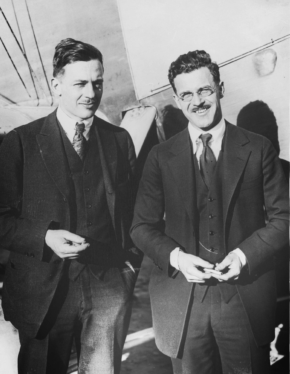 Donald and his partner David Davis.  (San Diego Air & Space Museum)